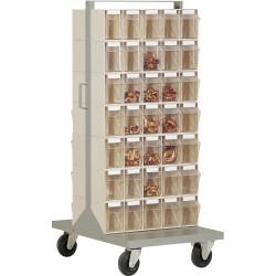 Desserte 70 bacs transparents