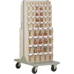 Desserte 106 bacs transparents