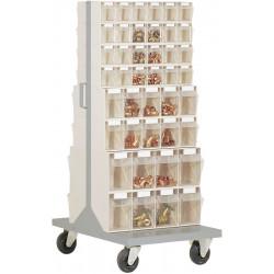 Desserte 84 bacs transparents