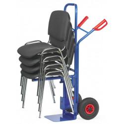 Diable porte-chaises avec support boulonné