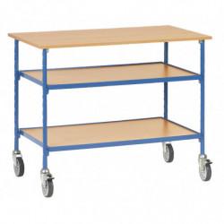 Table roulante 2 plateaux
