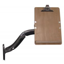 Tablette écritoire sur bras articulé pour fixation sur montants perforés