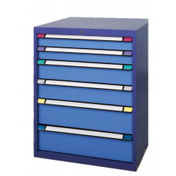 Armoire 6 tiroirs L 1005 x P 695 x H 1000 mm - Bâti bleu