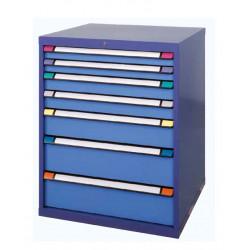 Armoire 7 tiroirs L 805 x P 695 x H 1000 mm - Bâti bleu