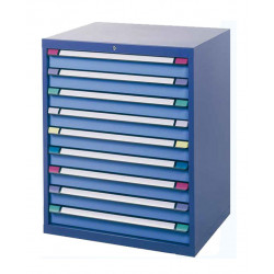 Armoire 9 tiroirs L 805 x P 695 x H 1000 mm - Bâti bleu