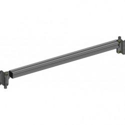 Traverse alu 40x80 pour fixation d'accessoires sur montants perforés