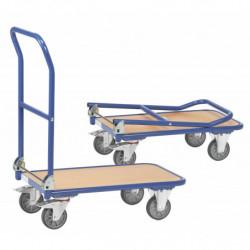 Chariot pliable à plateforme en mélaminé