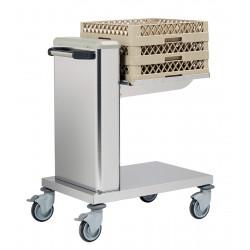 Chariot inox à niveau constant pour casiers