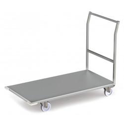 Chariot inox à plateforme avec butées aux angles