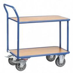 Chariot de magasin 2/3 plateaux charge 400 kg