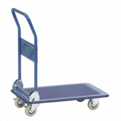 Chariot pliable à plateau acier