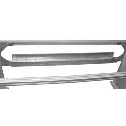 Goulotte technique en aluminium pour poste de travail