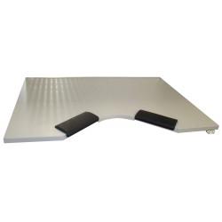 Plateau forme ergonomique avec appui-bras