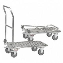 Chariot pliable tout aluminium avec 1 plateau