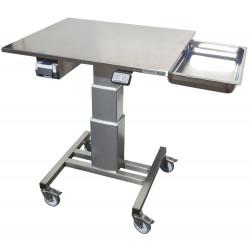 Table de travail inox monocolonne motorisée hauteur ajustable
