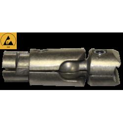 Jonction intérieure articulée à 90° sur rotule 2 tubes