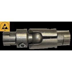 Jonction intérieure articulée droite 2 tubes diamètre 28 mm