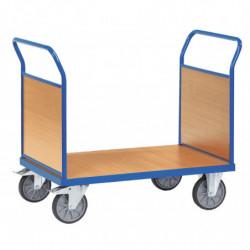 Chariot multifonction à ridelles en mélaminé