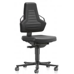 Chaise d'atelier ergonomique réglable à mécanisme synchrone en mousse polyuréthane