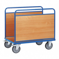 Chariot multifonction à ridelles latérales