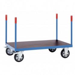 Chariot charge lourde à barres de poussée