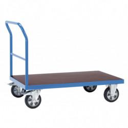 Chariot charge lourde à dossier de poussée