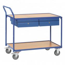 Servante charge 300 kg avec 2 tiroirs