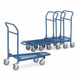 Chariot emboitable 1 plateau en treillis