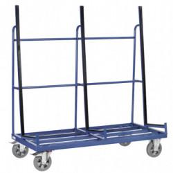 Chariot porte-panneaux sécurisé pour panneaux fragiles