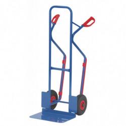 Diable en tube acier pour charge haute - Chargement vertical ou penché