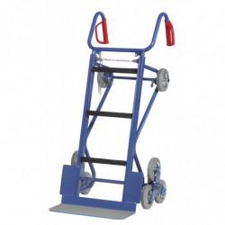 Diable escalier pour charges encombrantes équipé de roues d'appui