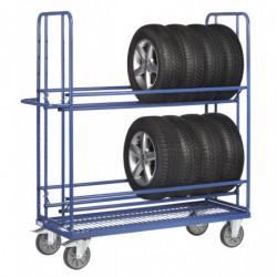 Chariot pour pneumatiques adaptable