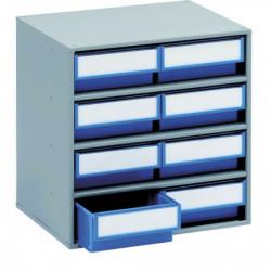 Armoires de stockage L 400 x P 300 x H 395 mm - 8 tiroirs