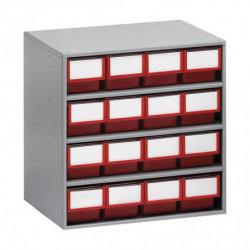 Armoires de stockage  L 400 x P 300 x H 395 mm - 16 tiroirs