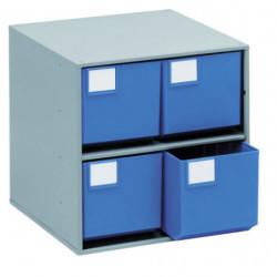 Armoires de stockage L 400 x P 400 x H 395 mm - 4 tiroirs