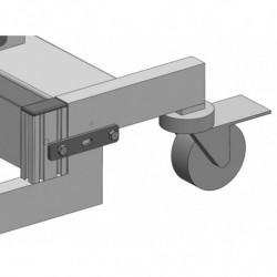 Butée pour limiter la profondeur de chargement sur le châssis du mini gerbeur électrique