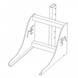 Prise bacs charge 100 kg pour mini gerbeur électrique