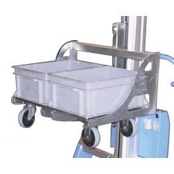 Prise bacs charge 200 kg pour mini gerbeur électrique