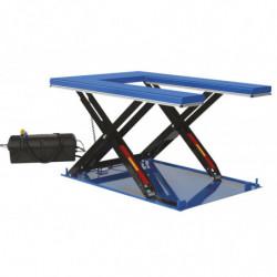 Table élévatrice hydrau-électrique plateau en U avec groupe hydraulique séparé