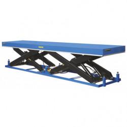 Table élévatrice hydrau-électrique à ciseaux en tandem