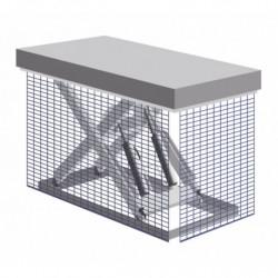 Grille métallique de protection pour table élévatrice