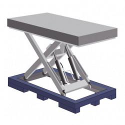 Cadre passage fourche pour table élévatrice