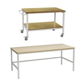 Table de travail hauteur fixe pour atelier industriel professionnel