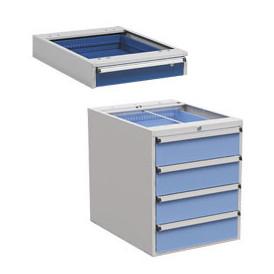 Bloc-tiroirs suspendus sous le poste de travail