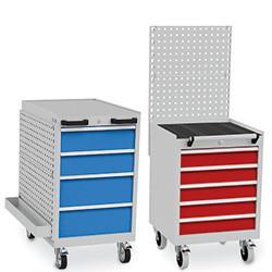 Bloc-tiroirs mobile avec panneau perforé