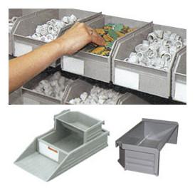 Bac à bec superposable  et accrochable sur rail aluminium
