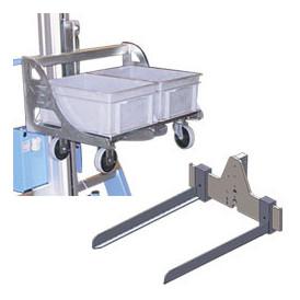 Fourche et manutention de bac pour chariot mini gerbeur semi-électrique