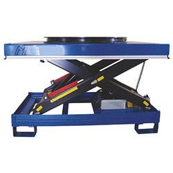 Table élévatrice hydrau-électrique à plateau tournant