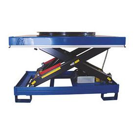 Table élévatrice électrique hydraulique à plateau tournant