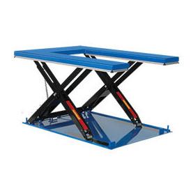 Table élévatrice électrique hydraulique plateau U